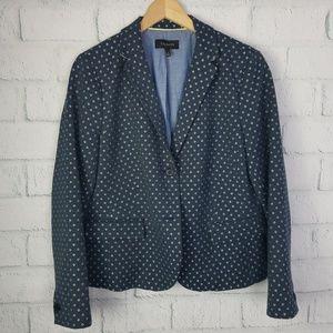 Talbots Blue & White Woven Blazer